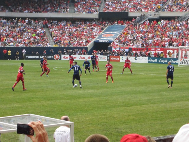 Chicago Fire vs. Manchester United at Soldier Field