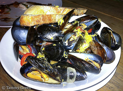 Mussels at Three Aces | Photo courtesy of Tammy Green