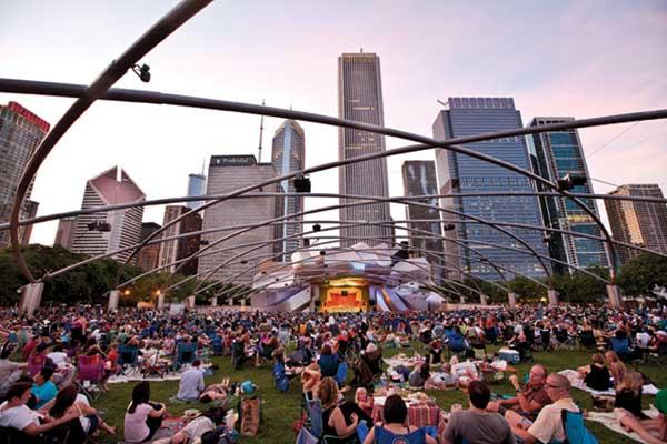 Pritzker Pavillion in Chicago's Millennium Park