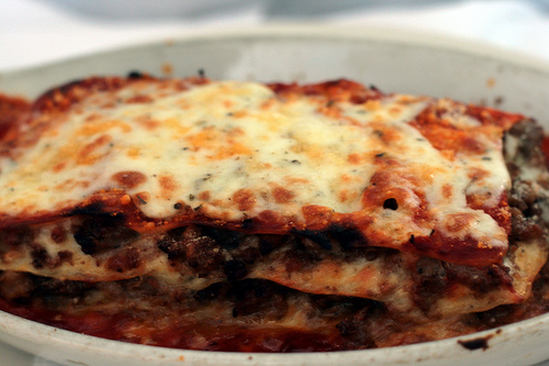 Lasagna from Volare | Photography courtesy of Tammy Green