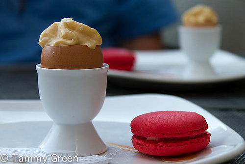 Caramel Egg and Macaroon   Takashi   Photo courtesy of Tammy Green